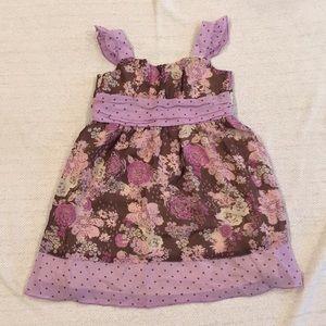 Cherokee baby girl purple flower ruffle dress